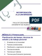 Planif Tiempo, Técnicas de Estudio y de Trabajo Personal (73 Diapos)