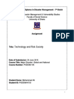 Technology and Risk Society