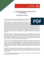 Anàlisi dels 100 primers dies del Grup Municipal Guanyar Alcoi