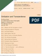 Civilization and Transcendence _ Bhaktivedanta Vedabase