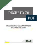 D.S. Nro.78 Almacenamiento Sust. Peligrosas