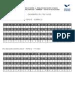 Gabarito 1ª Fase OAB 2015