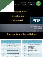 Kontrak belajar Psikometri 2015.ppt
