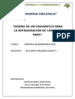 """""""Proyecto de Refrigeracion de Pavo"""""""