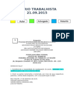 Diário Trabalhista 21.09.2015