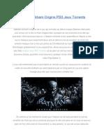 BatmanArkhamOriginsPS3JeuxTorrents