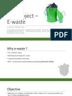 EVS Project - E-waste