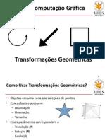 Aula 8 - CG - Transformations 2D Pt