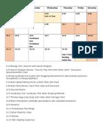 calendar and activities