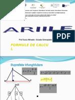 Arii Formule Aplicatii