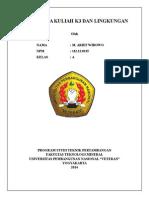 Cover Tugas Mata Kuliah k3 Dan Lingkungan