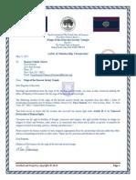 RHS-Membership Termination Request-Christopher T Milowski