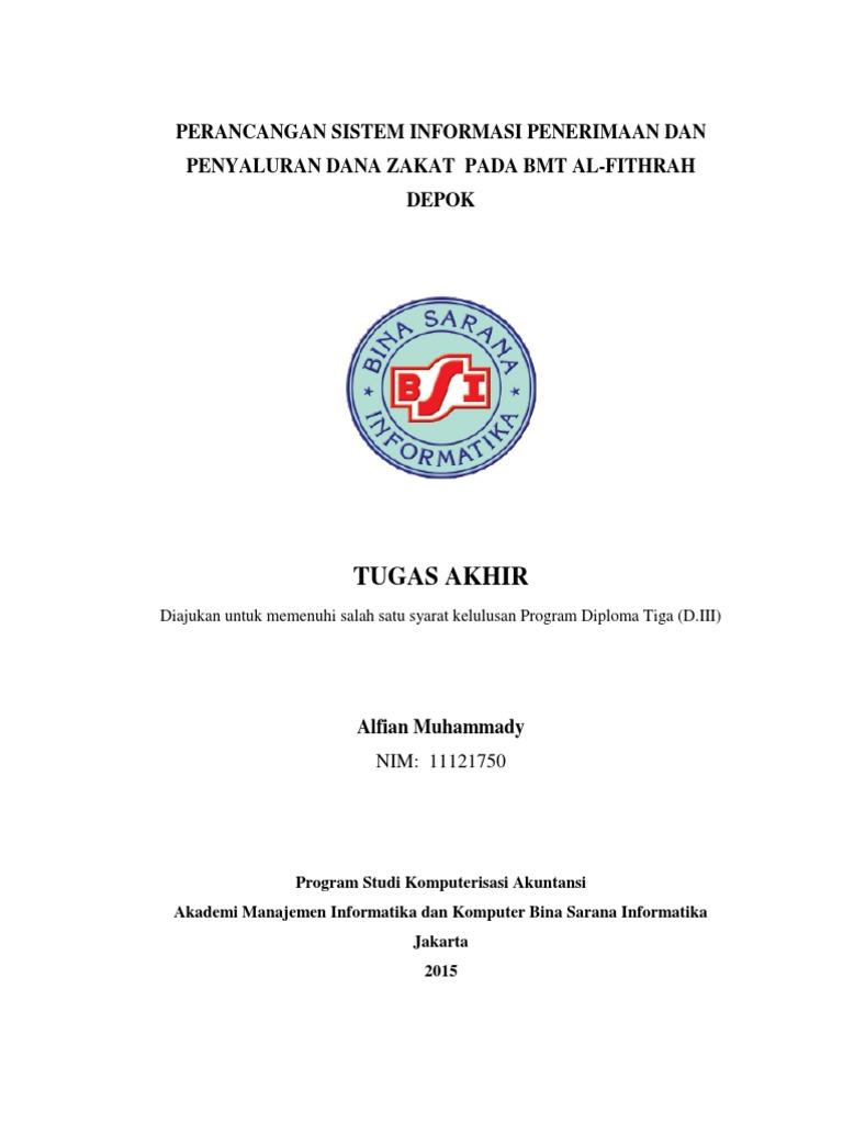 Judul Tugas Akhir Komputerisasi Akuntansi Banjarbaru