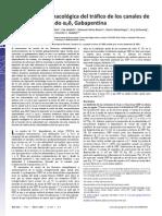 Interrupción farmacológica del tráfico de los canales de calcio por el ligando α2δ, Gabapentina