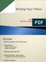 Writing Thesis Dr Avdesh Sharma Sir