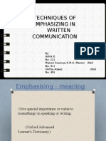 techniques to emphasize written communication