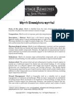 Myrrh Oil Profile