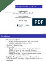 Econometrics Review #1