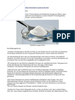 Krebs Mit Backpulver Natriumhydrogencarbonat Heilen