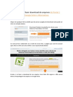 Manual Para Fazer Download de Arquivos Do Portal Energia Solar e Alternativas