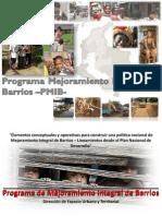 Programa Mejoramiento Integral de Barrios
