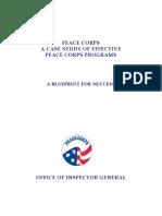 Peace Corps Program Study Report 11-  A BLUEPRINT FOR SUCCESS -  OIG 2007 January