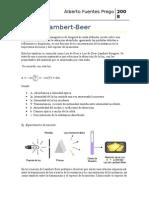 Ley de Lambert Beer