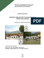 Rezumat Teza Doctorat Romanii Din Balcani Dorin Lozovanu