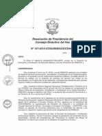 Resolución N°107-2015-COSUSINEACE-CDAH-P