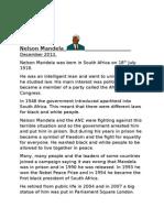 Nelson Mandela Reading Lesson