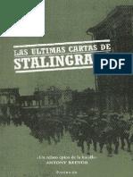 Las Ultimas Cartas de Stalingra - Antony Beevor