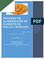 Informe de Laboratorio de Nuggets de Pescado y Pollo