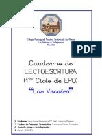 Cuaderno de Lectoescritura (Las Vocales) 1º Ciclo EPO (CDP NTRA. SRA. DE LAS NIEVES)