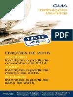 Guia Teste Anpad 2015