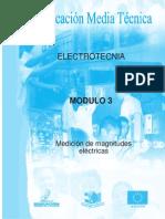 ELECTROTECNIA AÑO1 MODULO 3 MEDICION DE MAGNITUDES ELECTRICAS