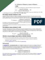 Unidades Físicas y Químicas de Concentración