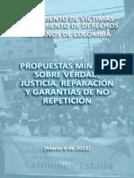 PROPUESTAS MÍNIMAS SOBRE VERDAD, JUSTICIA, REPARACIÓN Y GARANTÍAS DE NO REPETICIÓN