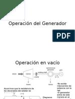 3. Operación  Generador