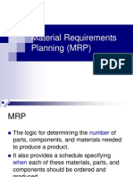 MRP and Aggregate Planning