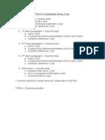 5 paragraph essay checklist