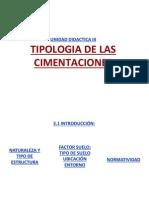 Tipologia de Cimentaciones