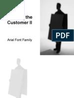 Voice of the Customer II