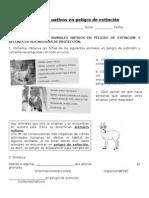 guia Animales Nativos en Peligro de Extinción 2do