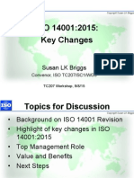 TC207 SC1 ISO 14001 Workshop on Changes 8 Sept 2015 Slides