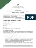 Edital Mestrado Doutorado 2012