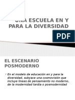 La Escuela en y Para La Diversidad