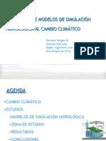 Expo Simulacion Hidrolog. y Cambio Climatico