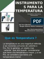 Instrumentos de medicion Para La Temperatura