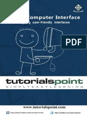 Human Computer Interface Tutorial Human Computer Interaction Usability