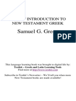 Green Introduction to New Testament Greek